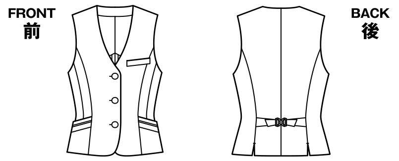 BONMAX LV1751 [通年]レジェール ベスト ストライプ ハンガーイラスト・線画