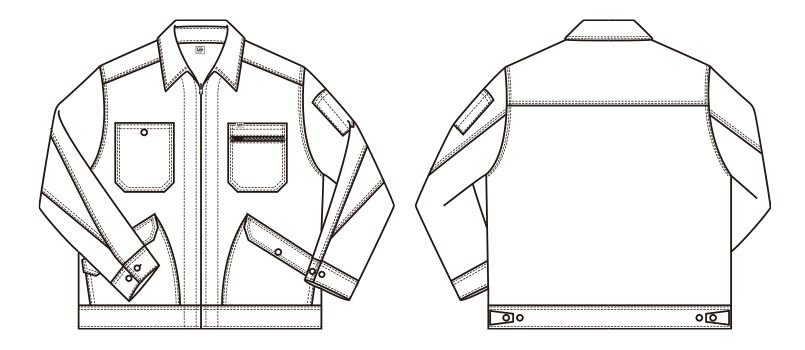 Lee LWB03001 ジップアップジャケット(女性用) ハンガーイラスト・線画