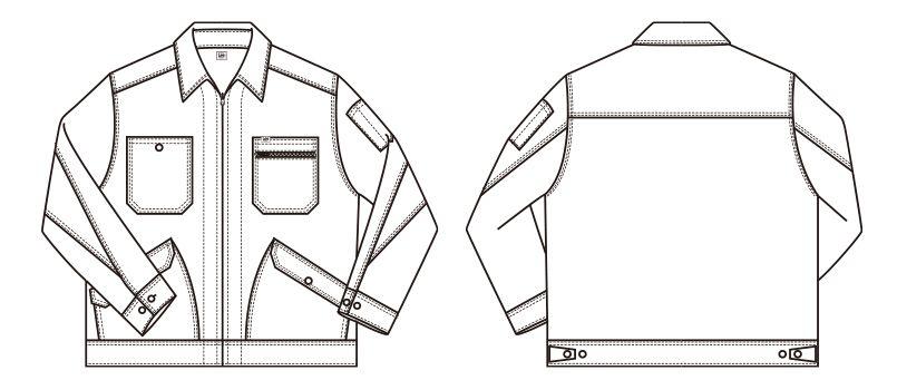 Lee LWB03002 [通年]ジップアップジャケット(女性用) ハンガーイラスト・線画