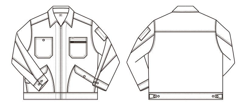 LWB06002 Lee ジップアップジャケット(男性用) ハンガーイラスト・線画