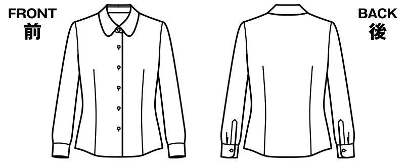 BONMAX RB4148 [通年]汗冷えやベタつきを軽減する長袖ニットブラウス ハンガーイラスト・線画