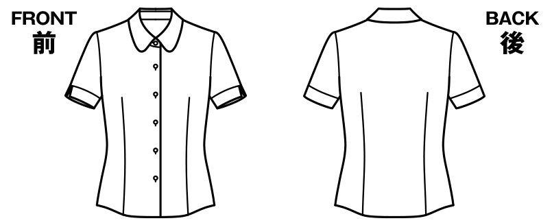 BONMAX RB4542 [通年]汗冷えやベタつきを軽減する半袖ニットブラウス ハンガーイラスト・線画