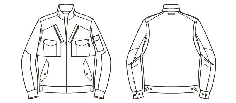 RJ0301 ROCKY フライトジャケット(女性用) ハンガーイラスト・線画