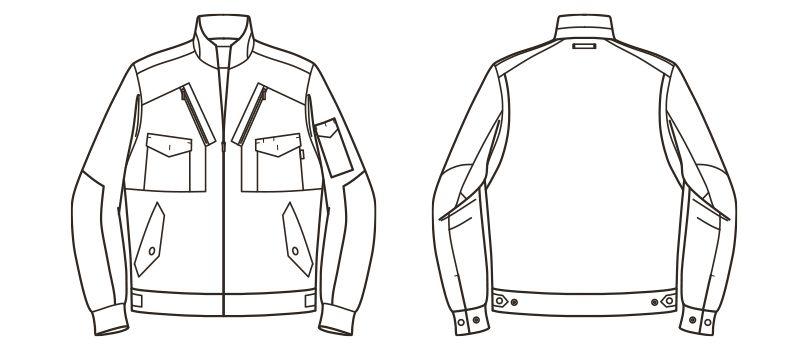 ROCKY RJ0905 ツイルフライトジャケット(男女兼用) ハンガーイラスト・線画