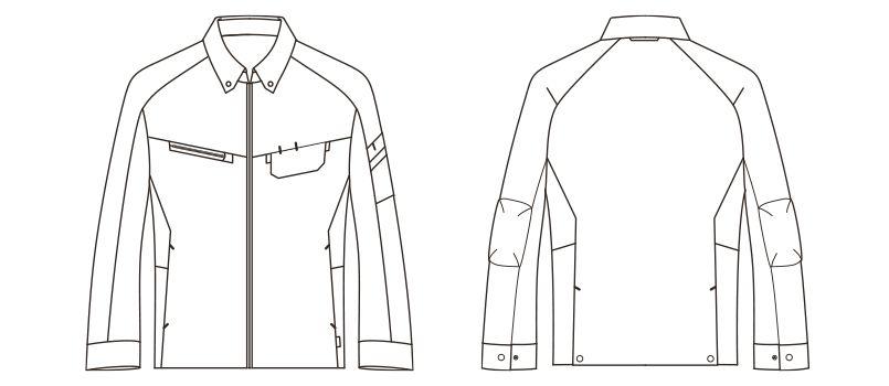 RJ0910 ROCKY ブルゾン(男女兼用) ツイル ハンガーイラスト・線画