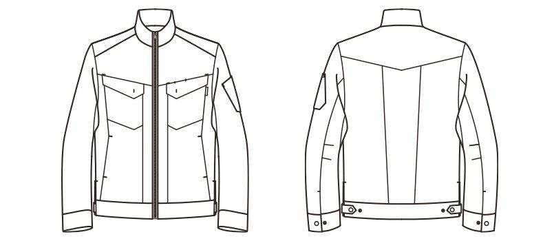 RJ0912 ROCKY ブルゾン(男女兼用) コーデュラファブリック ハンガーイラスト・線画