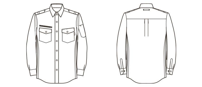 RS4602 ROCKY ワークシャツ(男性用) ハンガーイラスト・線画