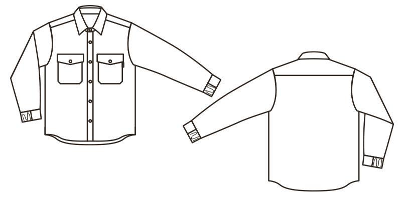 [在庫限り]RS4901 ROCKY キルトシャツ(男女兼用) ハンガーイラスト・線画