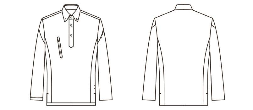 RS4903 ROCKY 長袖トリコットシャツ(男女兼用) ニット ハンガーイラスト・線画