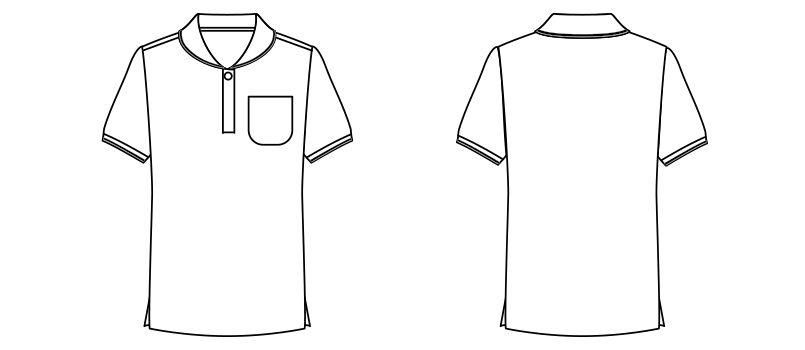 TB4001L ナチュラルスマイル ドライ ショールカラーポロシャツ (女性用) ハンガーイラスト・線画