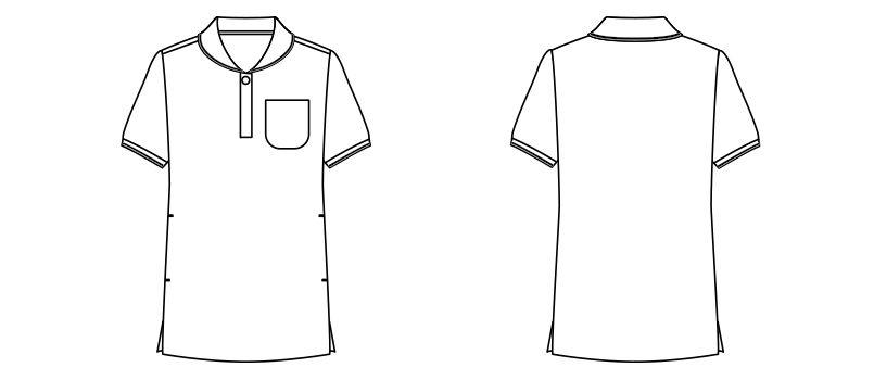 TB4002L ナチュラルスマイル ドライ チュニックポロシャツ (女性用) ハンガーイラスト・線画