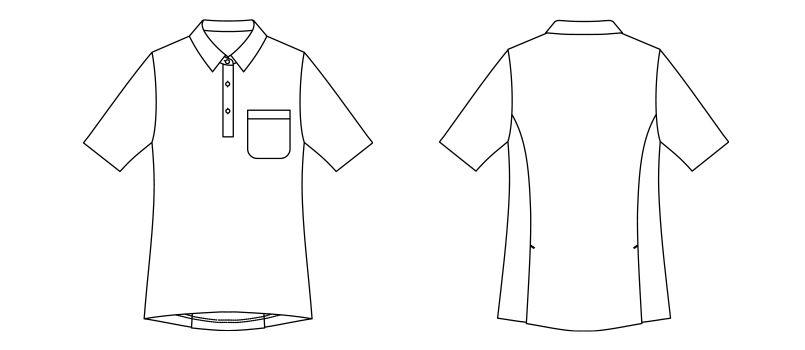 TB4003L ナチュラルスマイル ボーダーポロシャツ(女性用) ハンガーイラスト・線画
