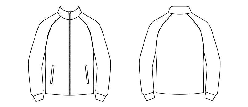 TJ0802U ナチュラルスマイル ジャージ トレーニングジャケット ハンガーイラスト・線画