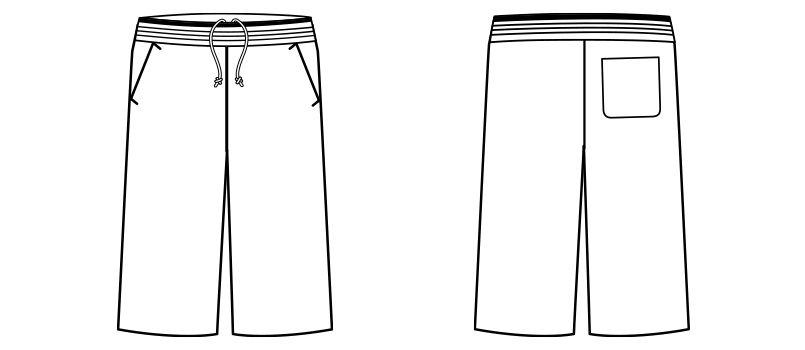TP6801U ナチュラルスマイル ジャージ ハーフパンツ(男女兼用) ハンガーイラスト・線画