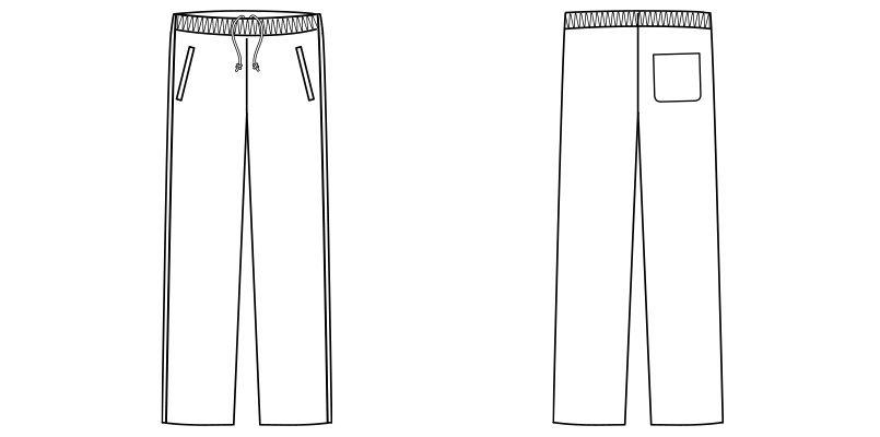 TP6804U ナチュラルスマイル ジャージパンツ ウエスト総ゴム ハンガーイラスト・線画