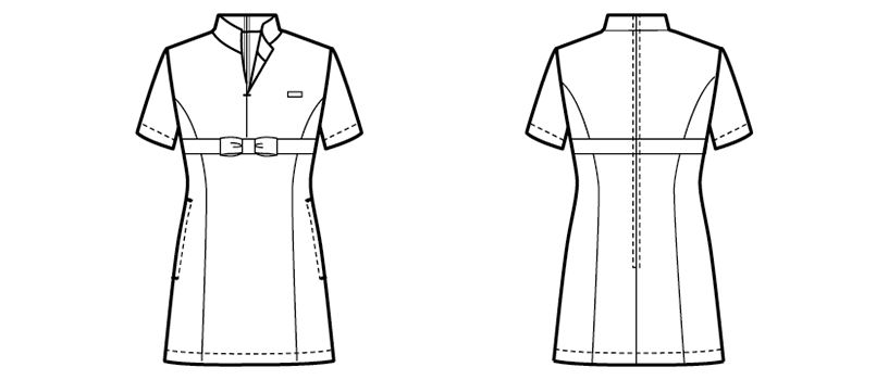 00115 BONUNI(ボストン商会) チュニックシャツ(女性用) ハンガーイラスト・線画