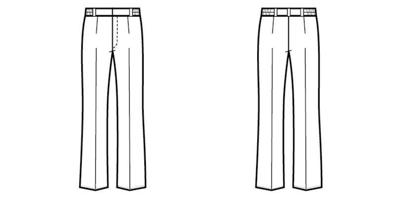 00201 BONUNI(ボストン商会) パンツ/股下フリー(女性用) ハンガーイラスト・線画
