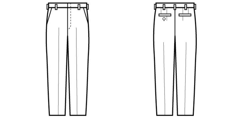 01120-02 BONUNI(ボストン商会) ノータックスラックス(男性用) ハンガーイラスト・線画