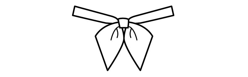 03048 BONUNI(ボストン商会) リボンタイ ジャガード(女性用) ハンガーイラスト・線画