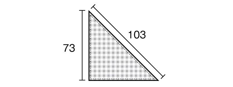 04007 BONUNI(ボストン商会) 三角チーフ(男女兼用) 先染チェック ハンガーイラスト・線画