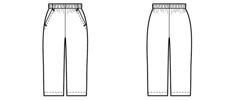 04710 BONUNI(ボストン商会) 七分丈パンツ(女性用) ハンガーイラスト・線画