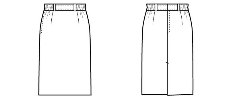 12204 BONUNI(ボストン商会) ストレッチスカート(女性用) ハンガーイラスト・線画