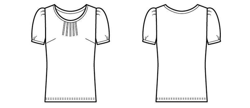 13204 BONUNI(ボストン商会) カットソー/半袖(女性用) ハンガーイラスト・線画