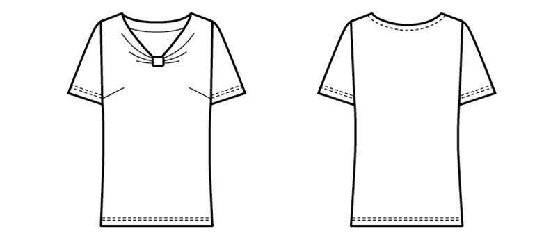 13205 BONUNI(ボストン商会) カットソー/半袖(女性用) ハンガーイラスト・線画