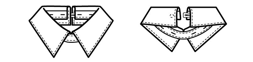 18205 BONUNI(ボストン商会) 替カラー(シャツ)(女性用) ハンガーイラスト・線画