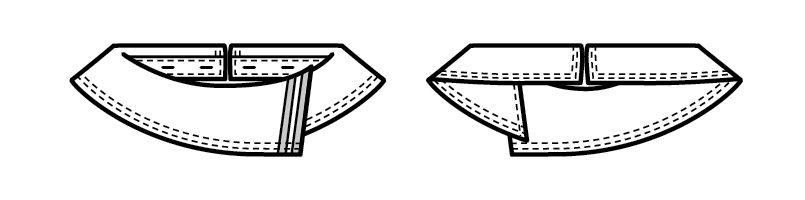 18207 BONUNI(ボストン商会) 替カラー(78-16206専用)(女性用) ハンガーイラスト・線画
