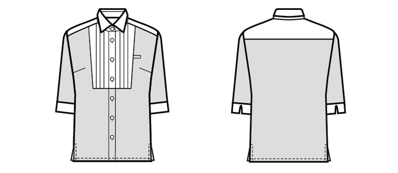 24216 BONUNI(ボストン商会) Tブラウス/五分袖(女性用) ハンガーイラスト・線画