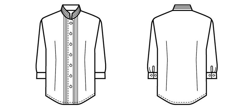 24224 BONUNI(ボストン商会) シャツ/七分袖(女性用) ハンガーイラスト・線画