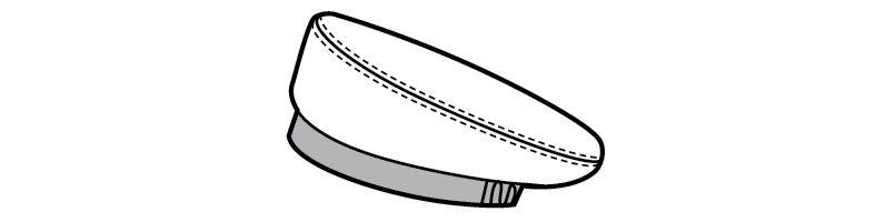 28302 BONUNI(ボストン商会) ベレー帽(男女兼用) ハンガーイラスト・線画