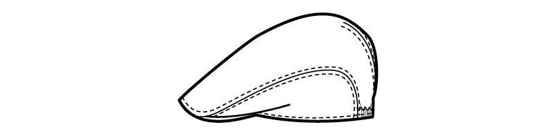 28306 BONUNI(ボストン商会) ハンチング(男女兼用) チェック ハンガーイラスト・線画