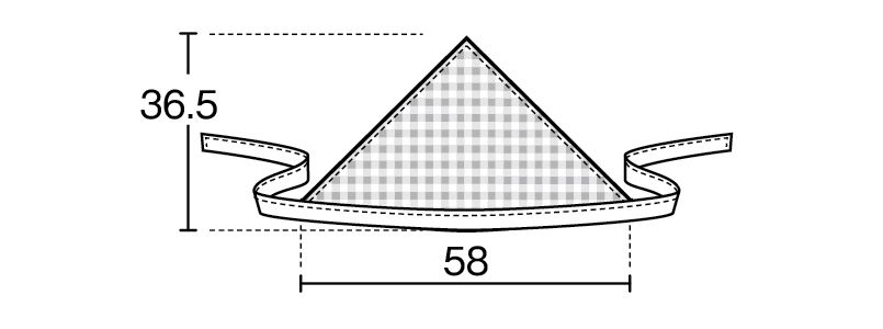 28311 BONUNI(ボストン商会) 三角巾(男女兼用) 先染チェック ハンガーイラスト・線画