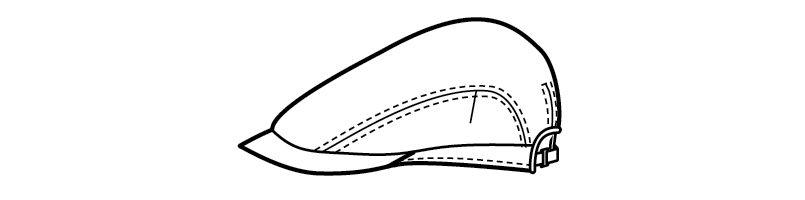 28320 BONUNI(ボストン商会) ハンチング帽(男女兼用) ハンガーイラスト・線画