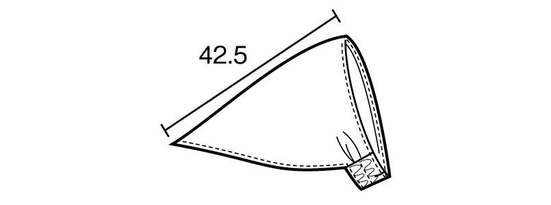 28322 BONUNI(ボストン商会) バンダナキャップ(男女兼用) ハンガーイラスト・線画