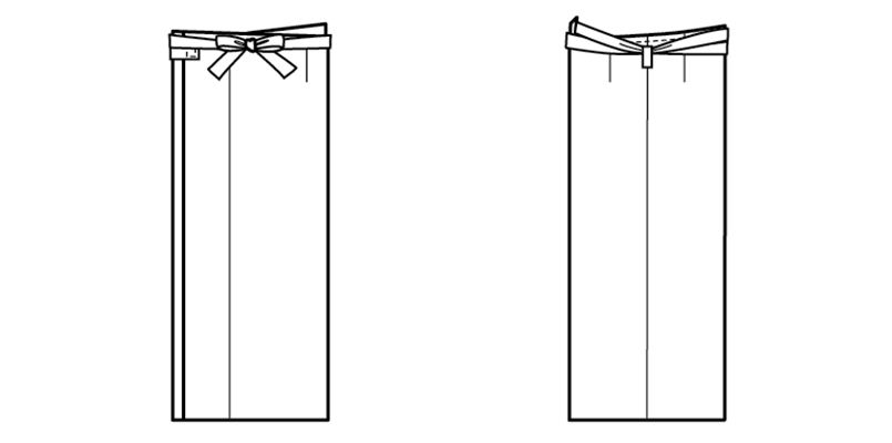 42202 BONUNI(ボストン商会) 和風スカート(女性用) ハンガーイラスト・線画