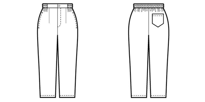 42303 BONUNI(ボストン商会) 和風パンツ(男女兼用) ハンガーイラスト・線画
