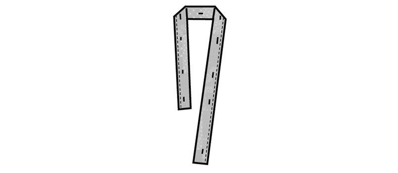 48305 BONUNI(ボストン商会) 替衿(男女兼用) 作務衣用 パッチワークプリント ハンガーイラスト・線画