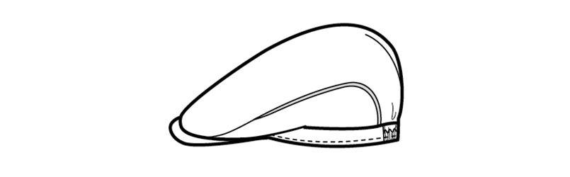 48308 BONUNI(ボストン商会) ハンチング(男女兼用) ハンガーイラスト・線画