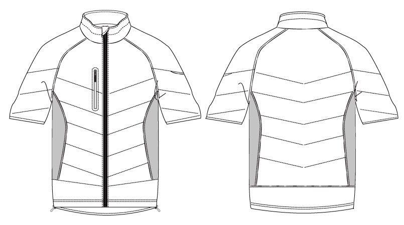 バートル 7316 [秋冬用]PUコーティング半袖防寒ブルゾン(男女兼用) ハンガーイラスト・線画