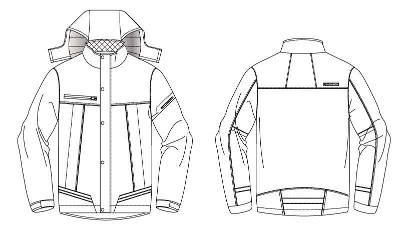 バートル 7610 [秋冬用]防水防寒ジャケット(男女兼用) ハンガーイラスト・線画