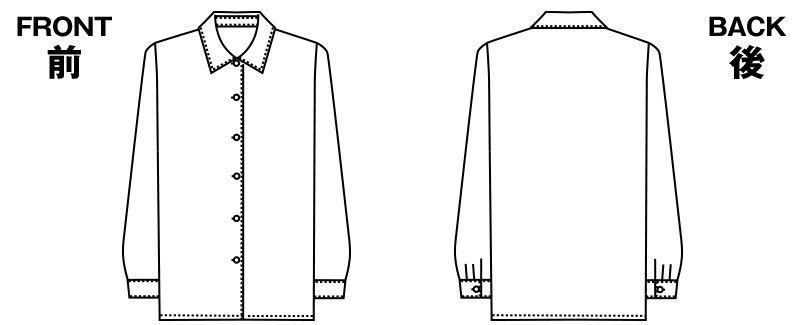 AR1412 アルファピア [通年]長袖コンフォートブラウス ハンガーイラスト・線画