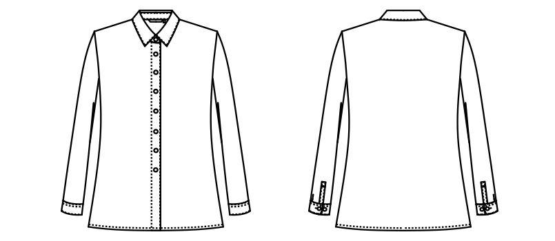 AR1429 アルファピア [通年]長袖シャツ[ニット/吸汗速乾/防透] ハンガーイラスト・線画