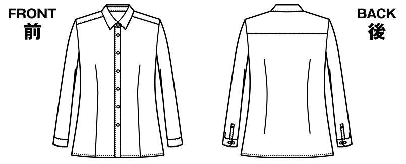 AR1485 アルファピア [通年]長袖ブラウス ドライ ハンガーイラスト・線画