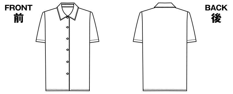 アルファピア AR1695 半袖ブラウス ハンガーイラスト・線画