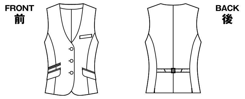 アルファピア AR2668 [春夏用]ベスト ストライプ ハンガーイラスト・線画