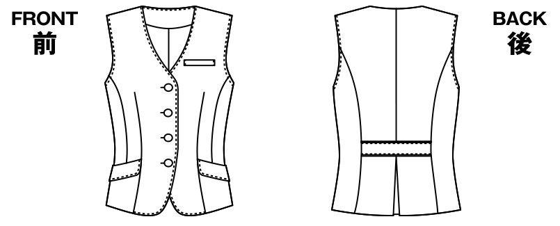 AR2814 アルファピア [通年]ベスト シャドーストライプ ハンガーイラスト・線画