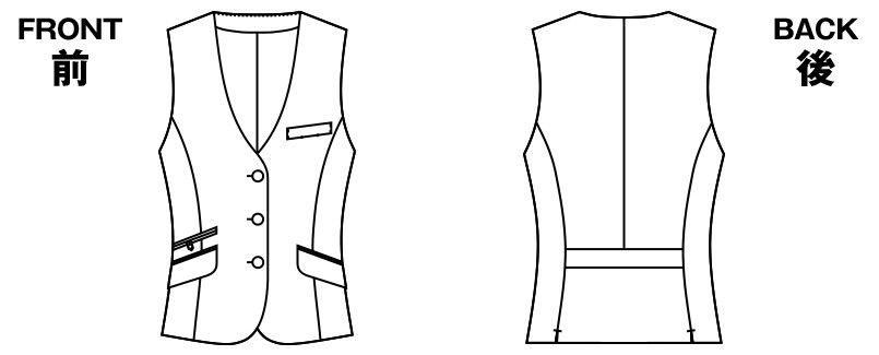AR2838 アルファピア [通年]ベスト グレンチェック ハンガーイラスト・線画